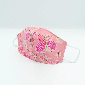 Mascarilla Style Antifluidos 3 capas para niña - Mariposa rosadas   Rosado