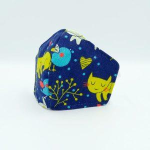 Gatito azul blanco infantil